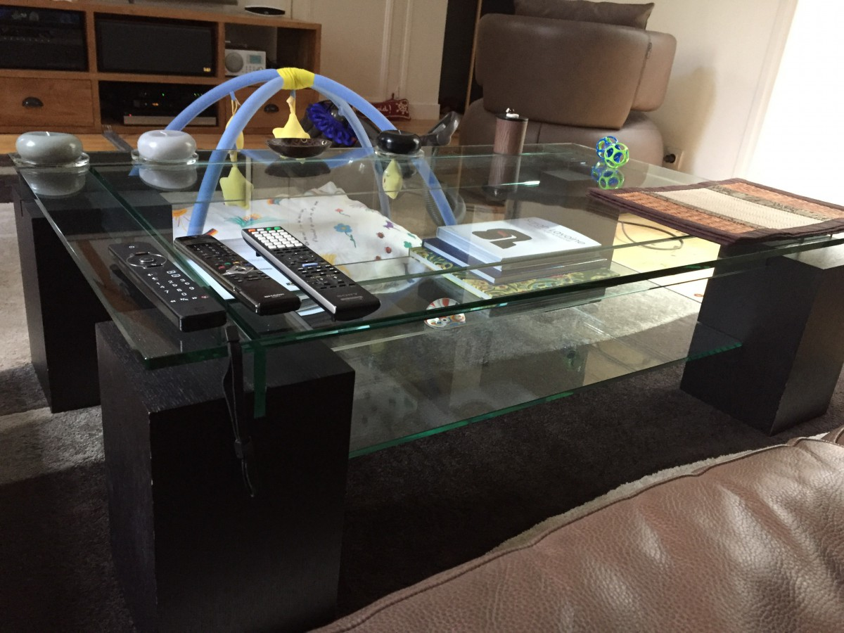Table basse bois roche bobois