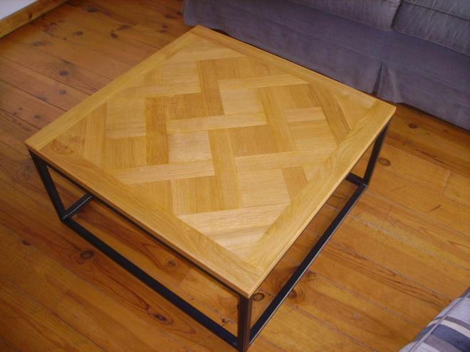 Table basse bois parquet