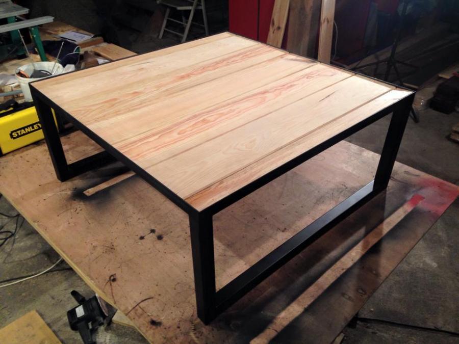 Table basse bois loft