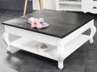 Table basse kiu bois blanc et bois