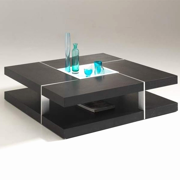 Table basse design lumineuse pas cher