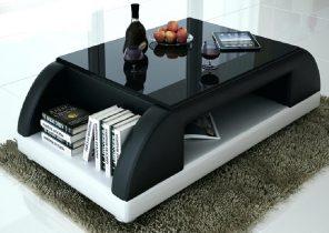 Table basse design noir laqué verseau