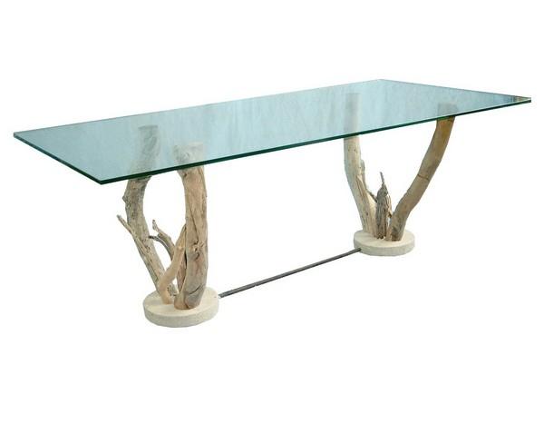 Pied bois de table basse