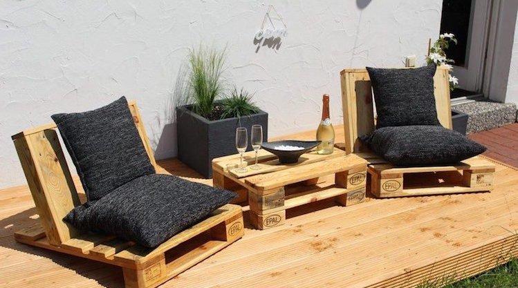 Table basse salon de jardin en palette