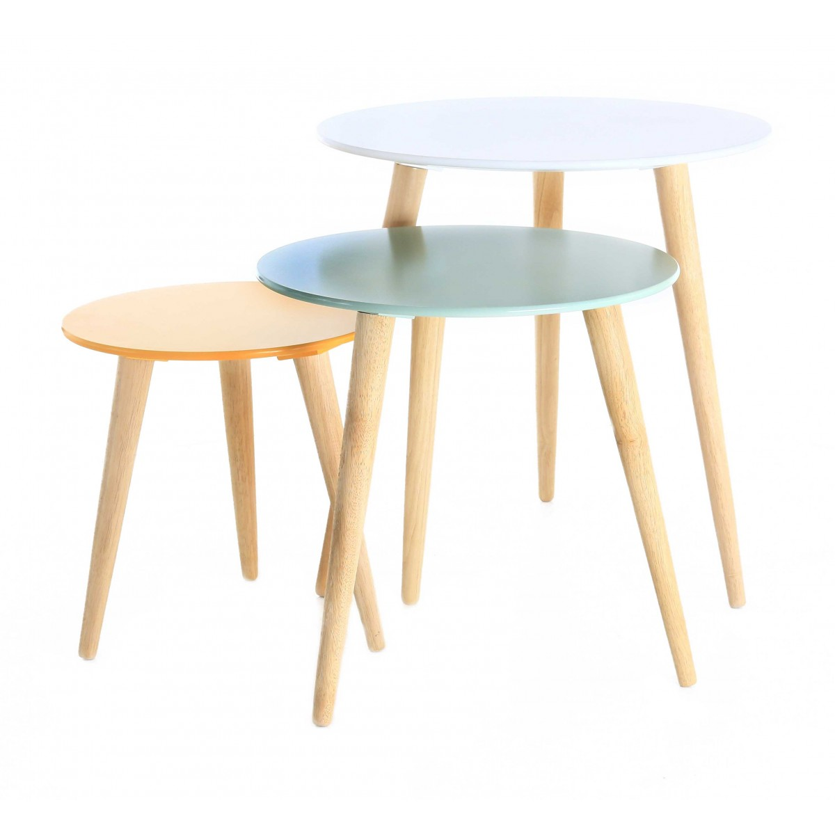 Table basse scandinave pastel