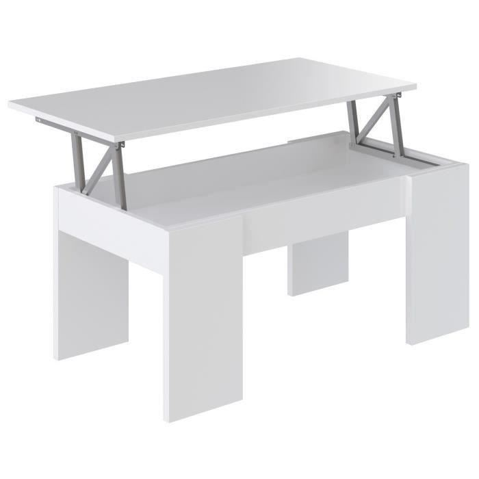 Cdiscount table basse relevable extensible