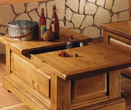 Table basse bar bois