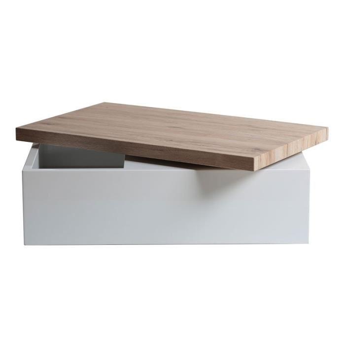 Table basse metal bois
