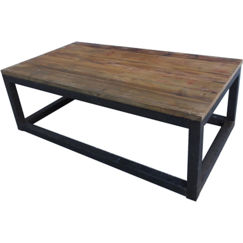 Table basse bois acier pas chere