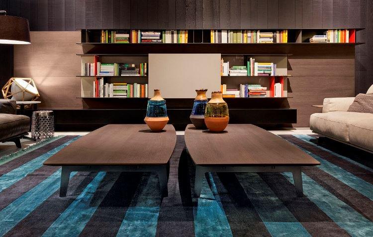 Table basse en bois sombre