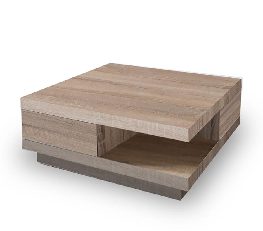 Table basse en bois carre