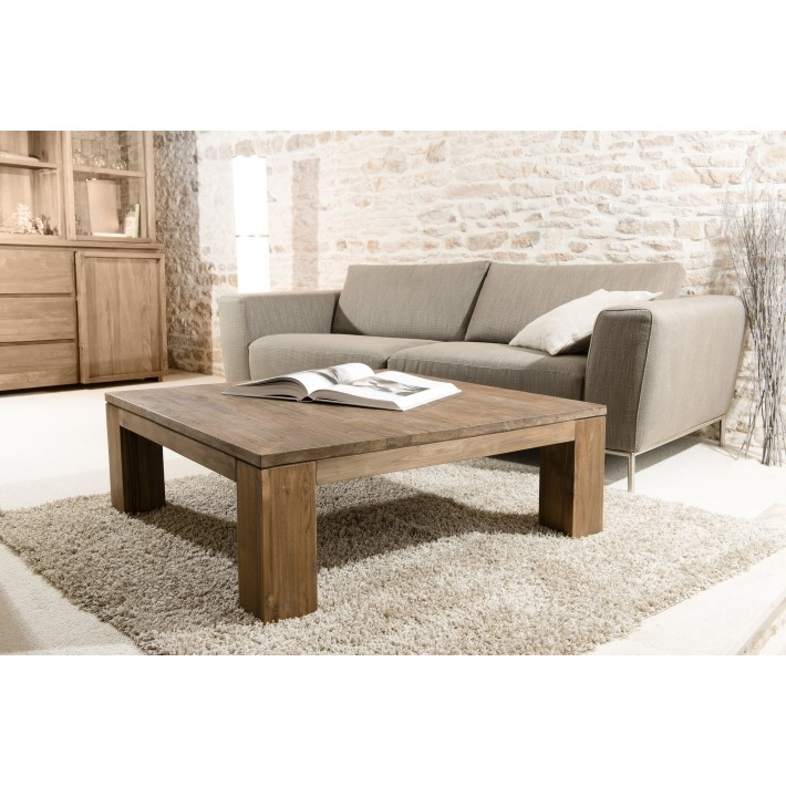 Table basse bois masif