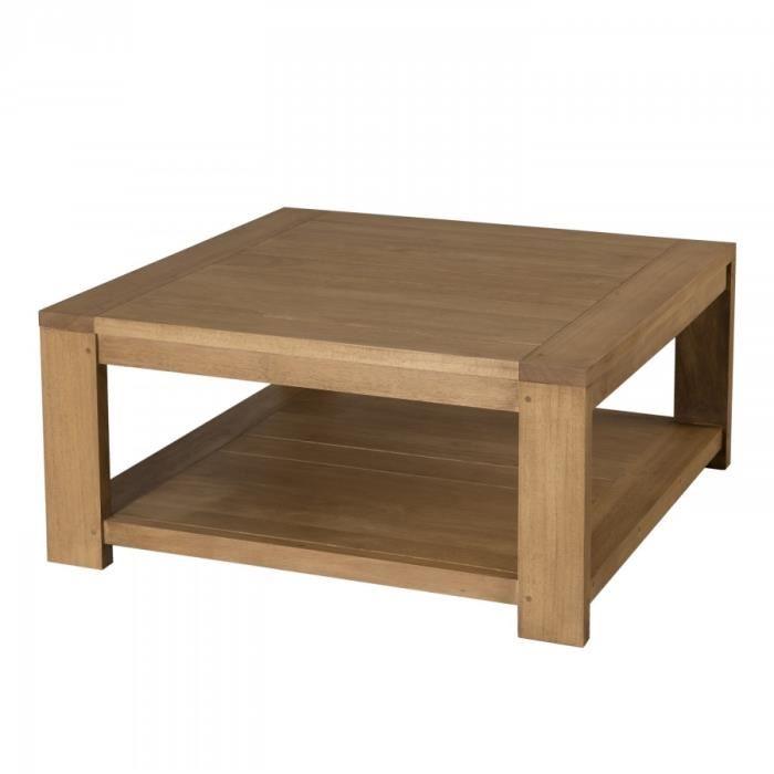 Table basse bois clair industriel