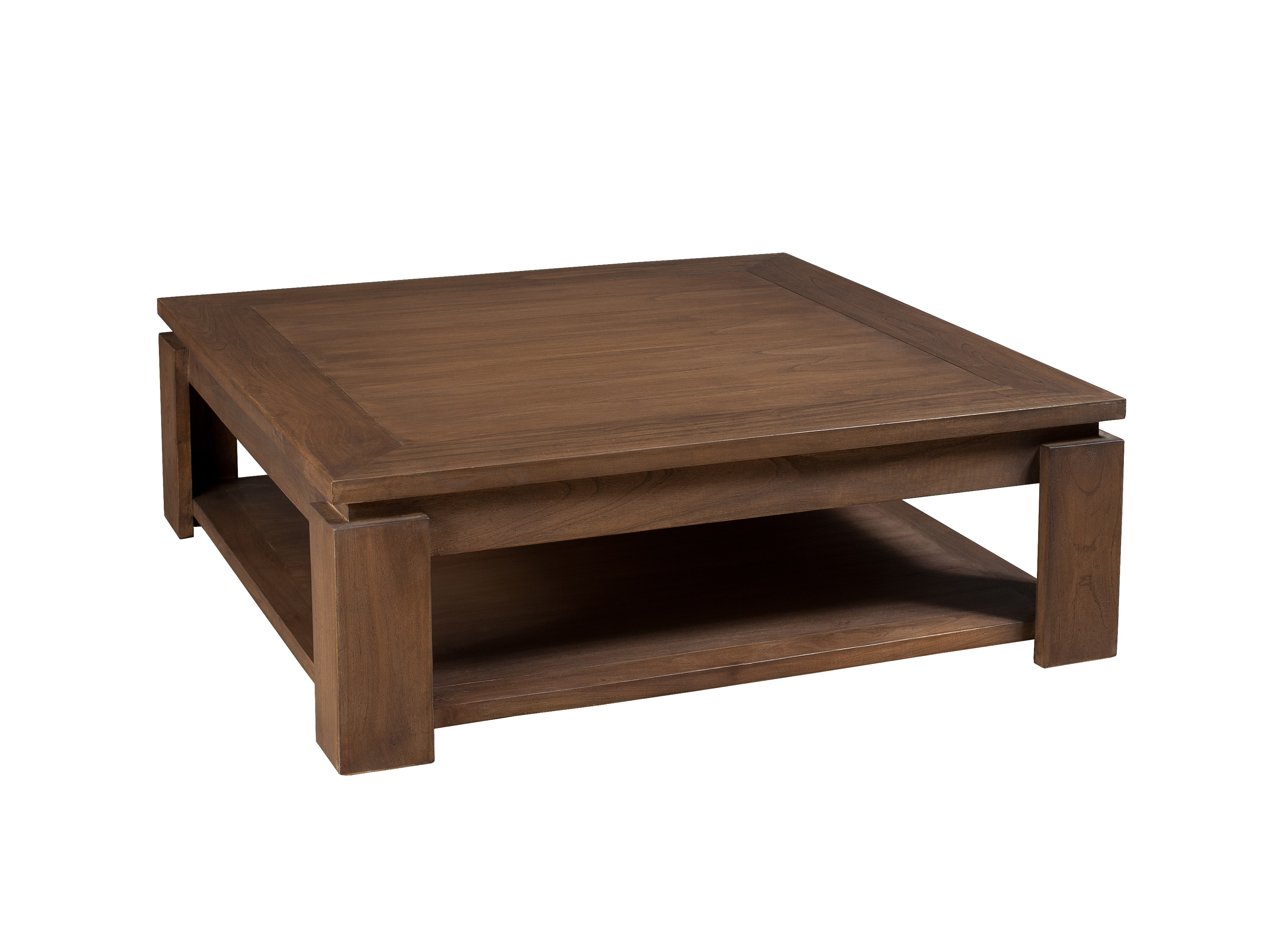 Grande table basse carree bois