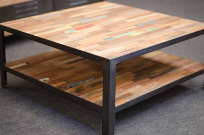 Table basse 80x80 bois