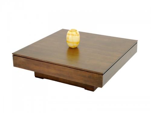 Table basse en bois massif carrée