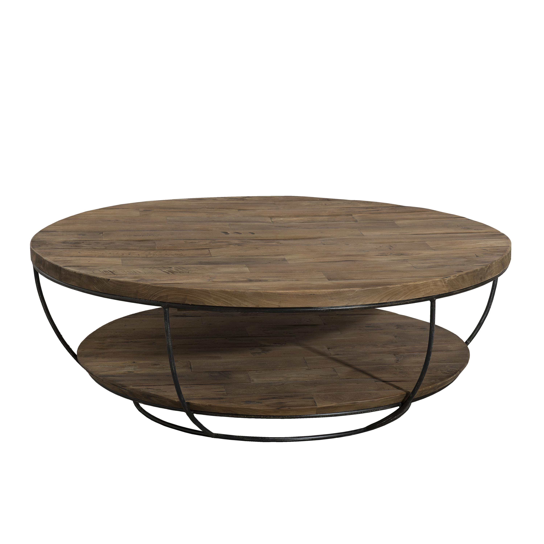 Table basse carrée bois et métal pier import
