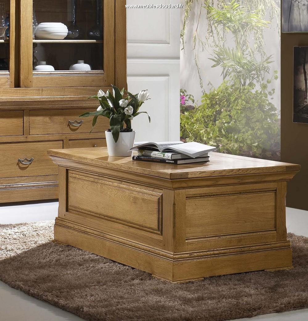 Table basse relevable rustique
