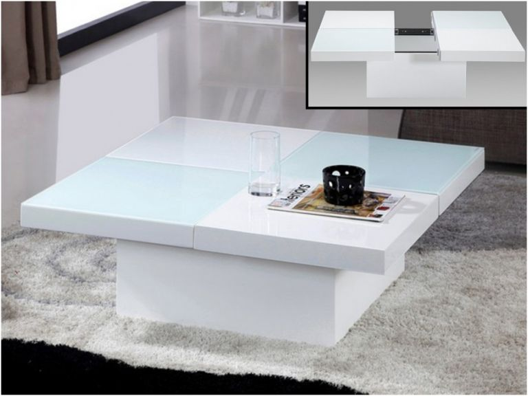 Vente unique table basse relevable