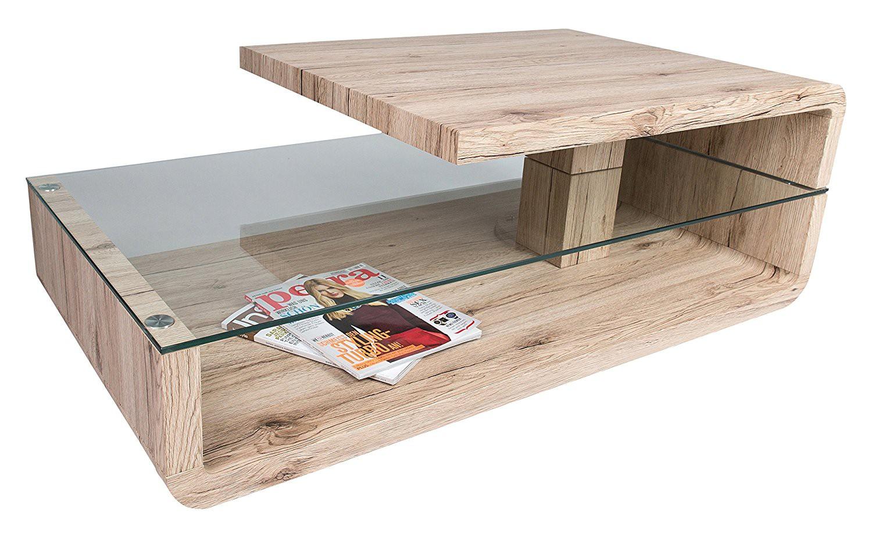 Table basse plateau pivotant bois