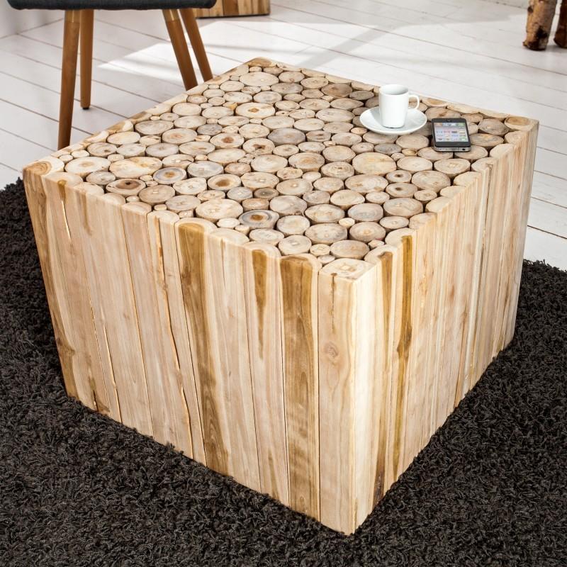 Table basse bois floté