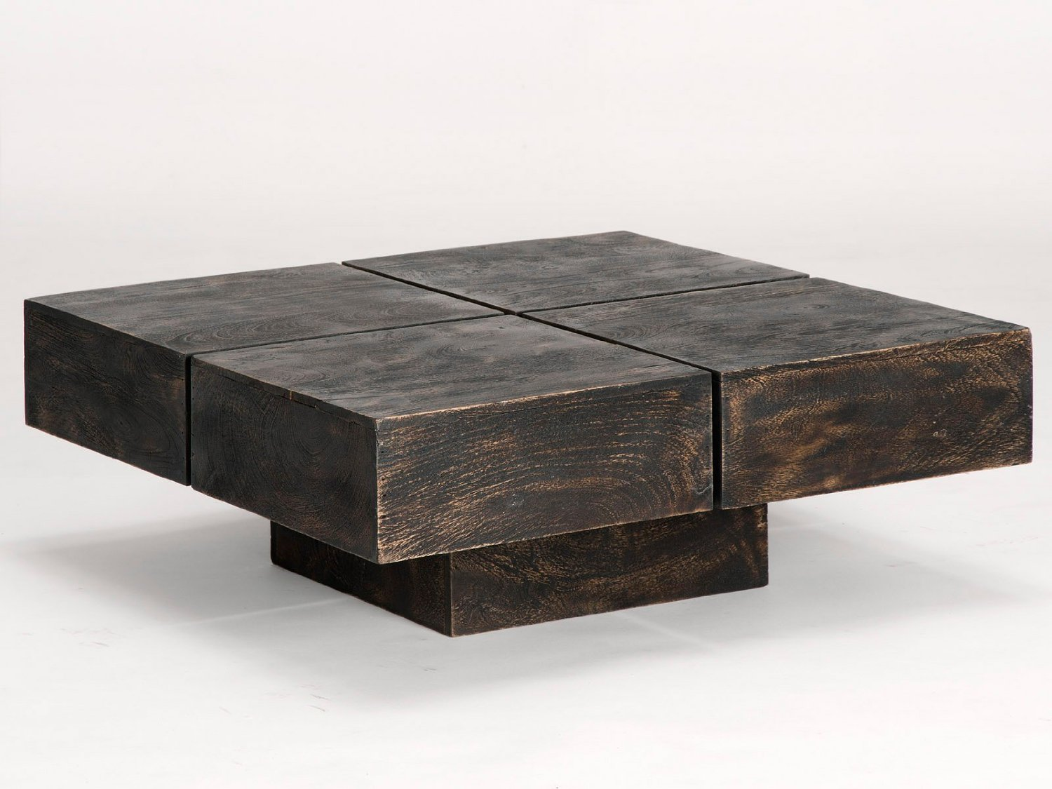 Table basse carree design bois