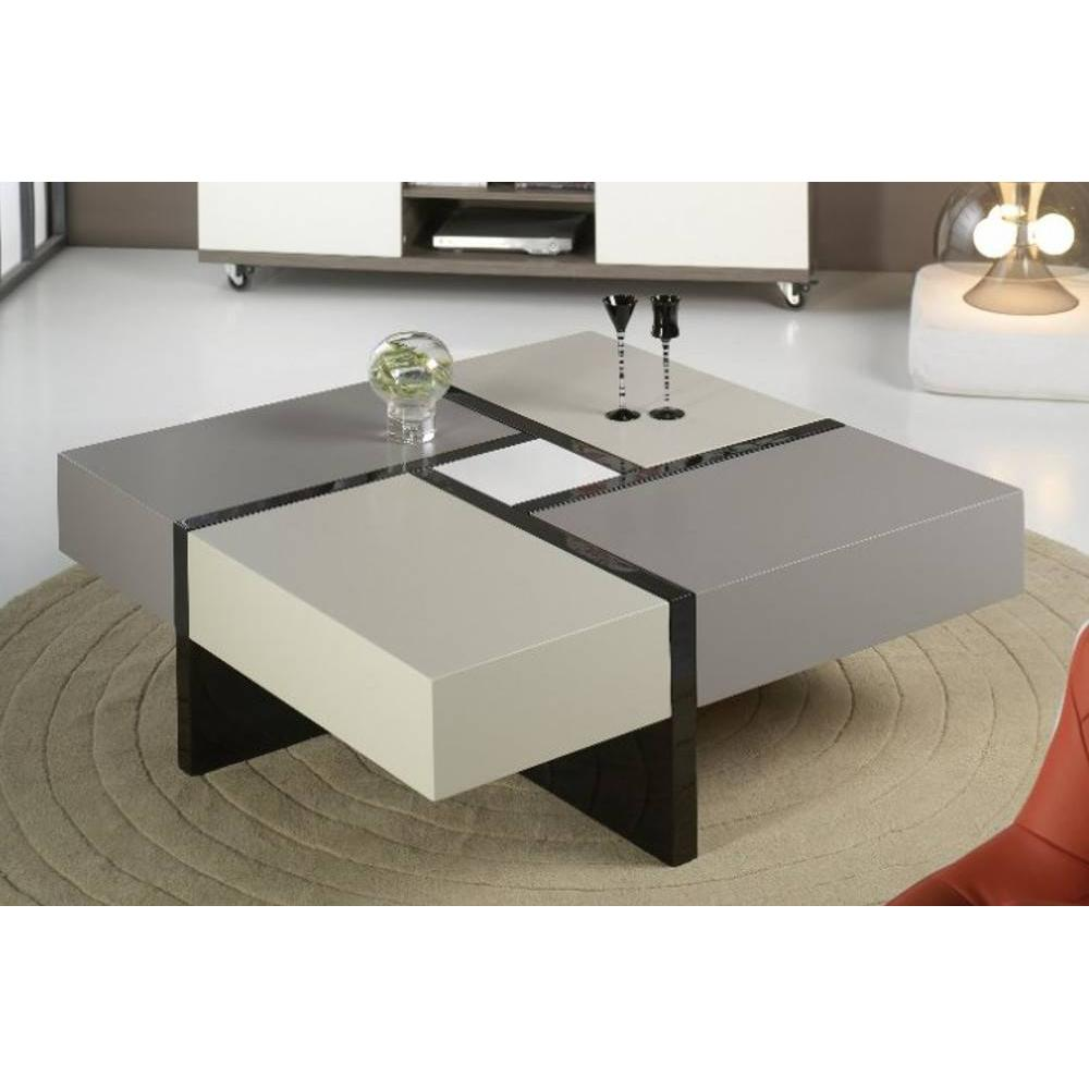 Table basse carree grise