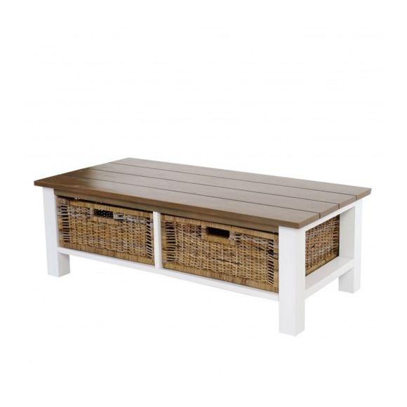 Table basse bois hexagonale