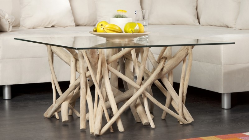 Table basse design bois flotte