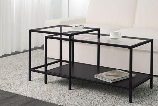 Petite table basse bois exotique
