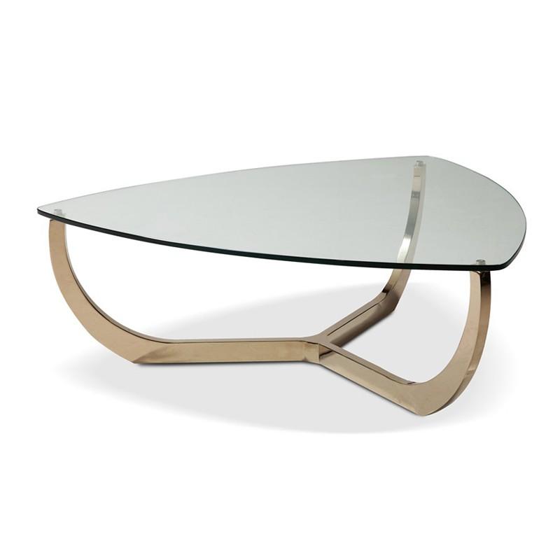 Table basse en verre triangle