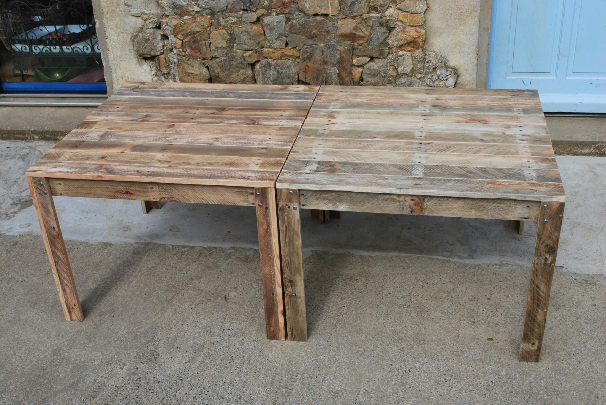 Table basse branche bois