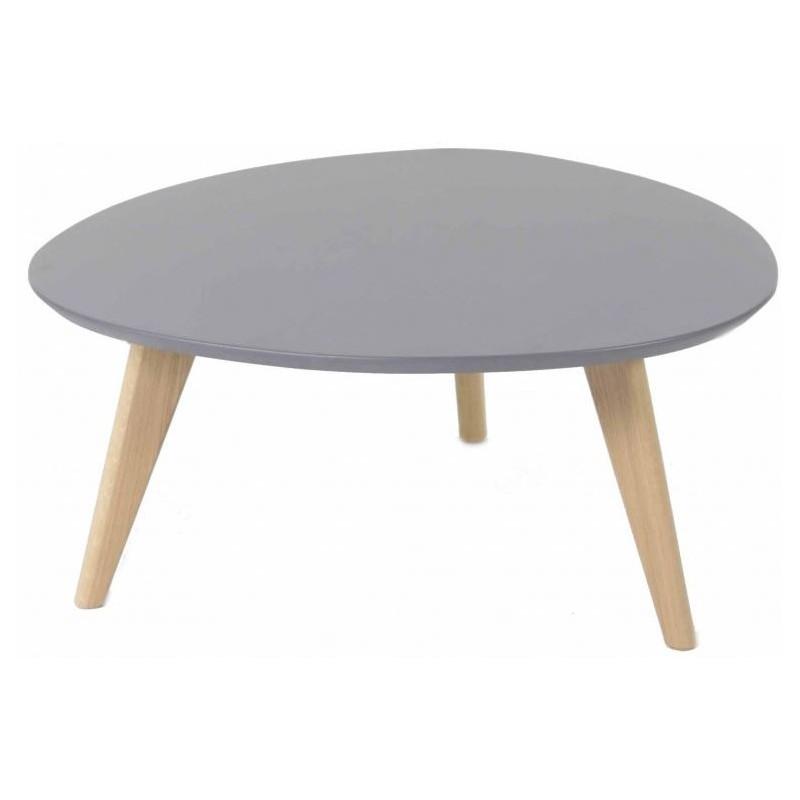 Table basse scandinave grise et blanche