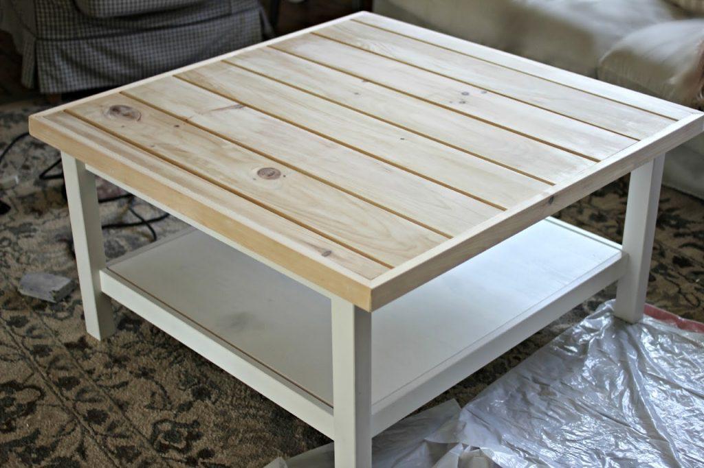 Table basse ikea blanche bois