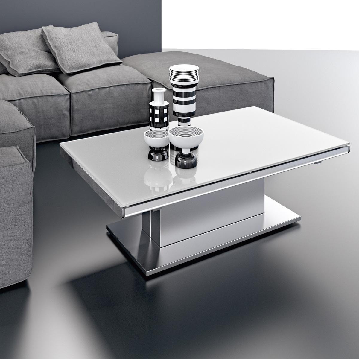 Table basse verre inox design