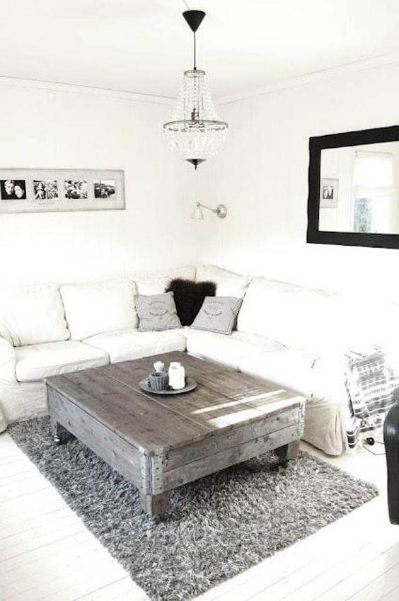 Table basse palette blanc
