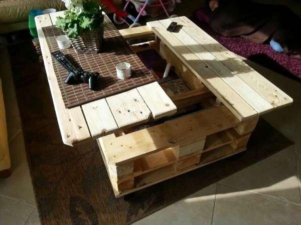 Table basse en palette style industriel