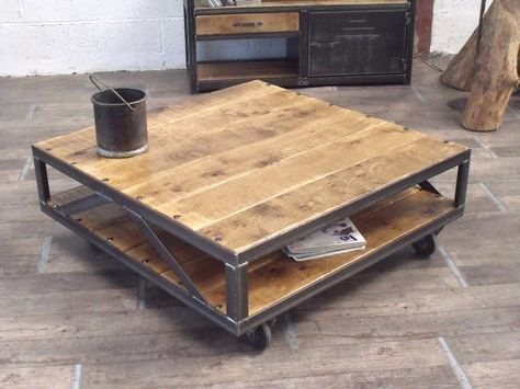 Table basse carree palette