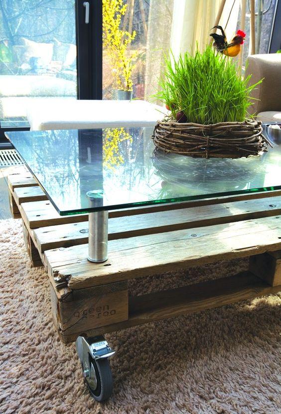 Construire table basse bois et verre