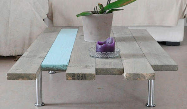 Creer table basse avec palette