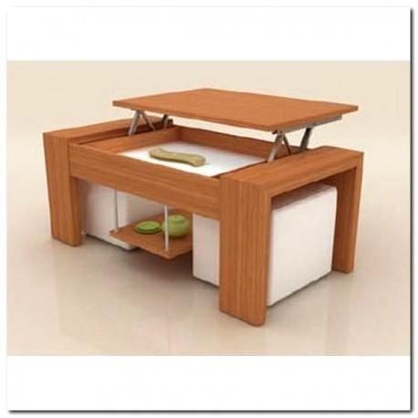 Table basse salon relevable bois