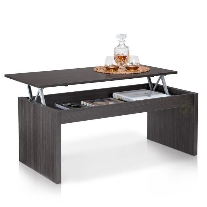 Table basse plateau relevable harrison