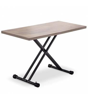 Table basse bois forme galet