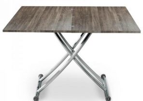 Table basse relevable ilona laquee gris