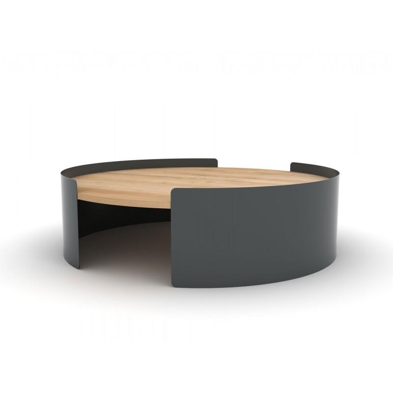 Table basse design bois gris