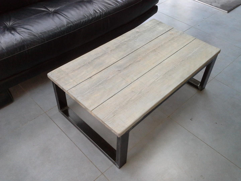 Fabriquer table basse acier bois