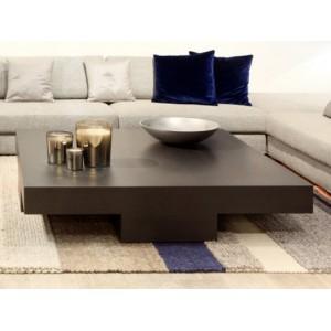 Table basse bois 120x120