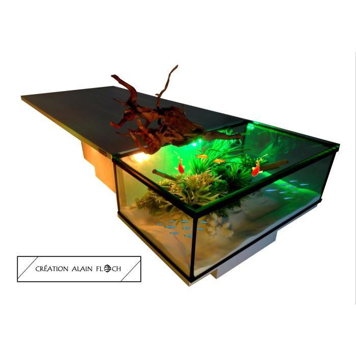 Table basse aquarium sans fil