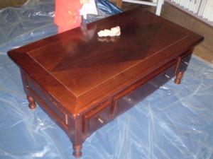 Moderniser table basse bois