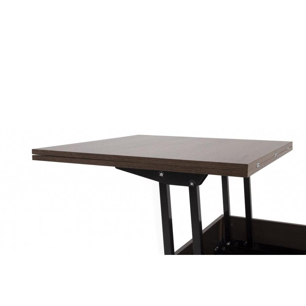 Table basse relevable extensible giani wengé